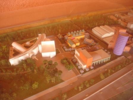 芸術センターの模型