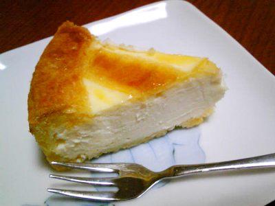 トロイカのチーズケーキの濃厚な断面♪