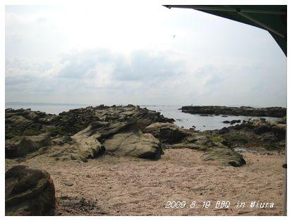 ゴツゴツ岩の海岸。