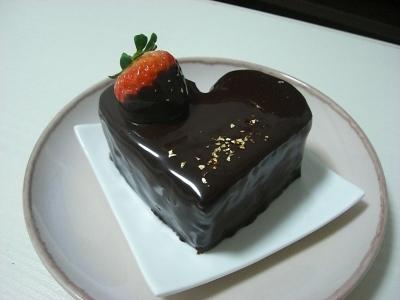 ハートチョコケーキ ミルティアクッキー