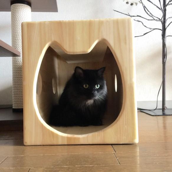 13.CATS.WORKSオリジナル木製猫ハウス