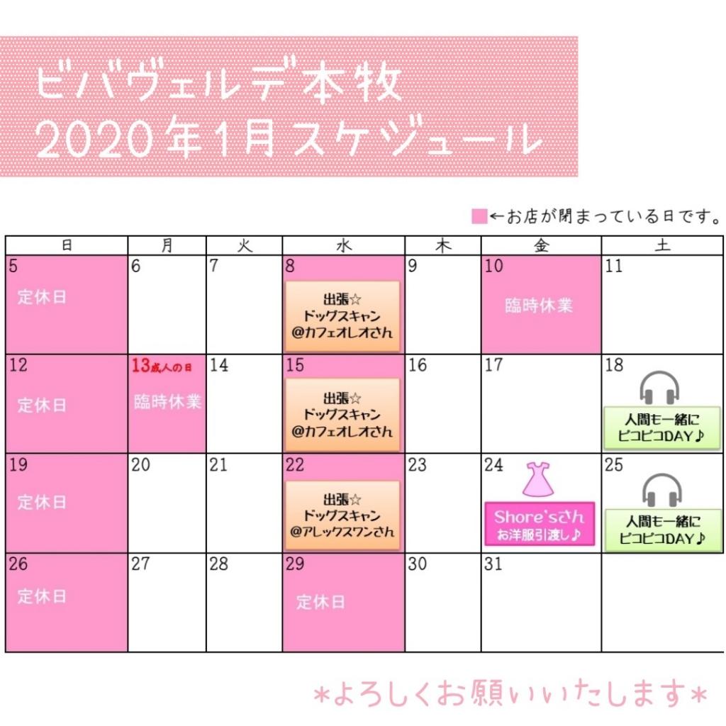 2020年1月スケジュール