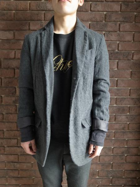 アンダーカバー 縮絨袖まくりジャケット.jpg