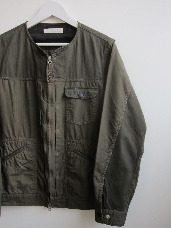 ONESSTROKE ワンズストローク No collar Zip Jacket 1.jpg