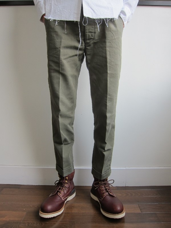 HIGH WATER CHINO HERRINGBONE OLIVE 1.jpg