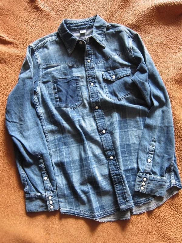Ron Herman California デニムチェック ウェスタンシャツ 1.jpg