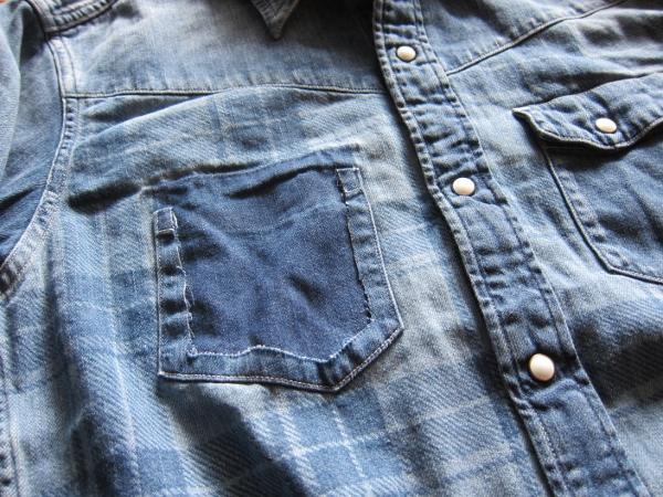 Ron Herman California デニムチェック ウェスタンシャツ 2.jpg