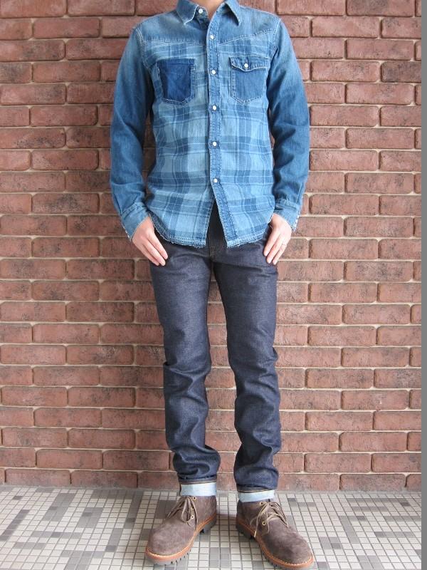 Ron Herman California デニムチェック ウェスタンシャツ 4.jpg