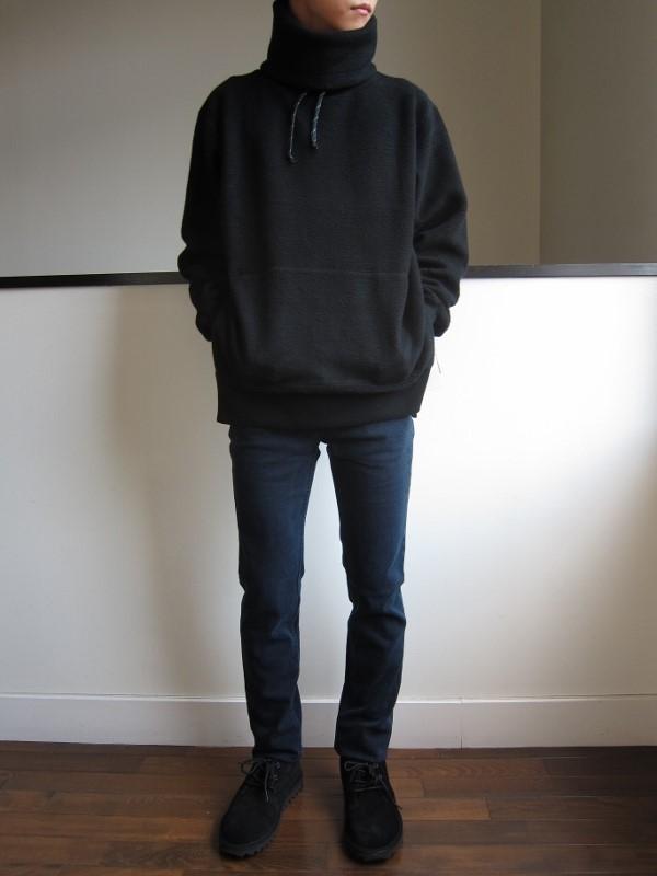 ONES STROKE ワンズストローク MocoLoose turtleneck Sweater black 4.jpg