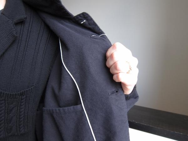 ONES STROKE ワンズストローク Flannel Coat 6.jpg