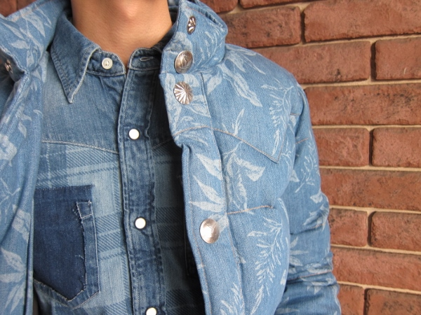 RonHermanCalifornia ロンハーマン カリフォルニア  denim aloha down jacket 5.jpg