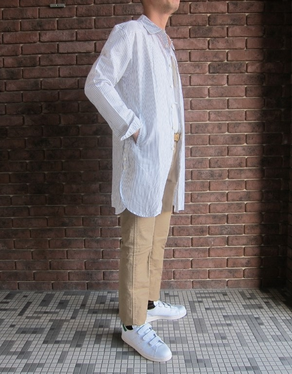 ONES STROKE ワンズストローク Stripe Long Shirt 5.jpg
