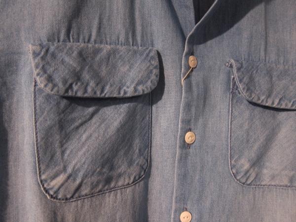 ONES STROKE ワンズストローク No Collar Chambray  Shirt 3.jpg