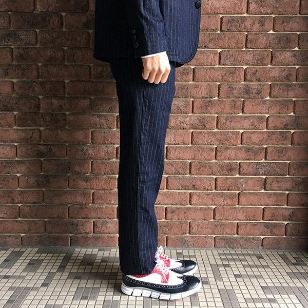 The Stylist Japan タキシードストライプデニムスラックス.JPG