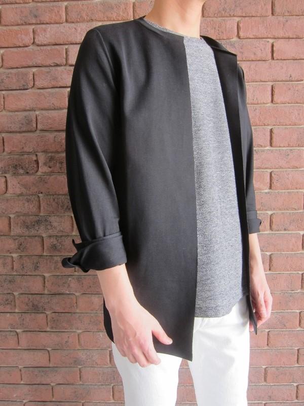 Maison Margiela メゾン マルジェラ Rough Linen Jersey tshirt & Mako cotton Jersey shirt 1.jpg