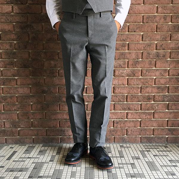 the stylist japan  ホップサック細身スラックス グレー.jpg