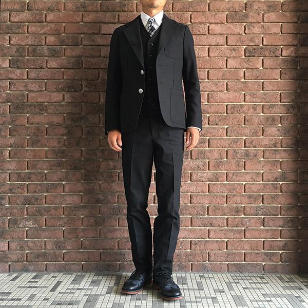 ザスタイリストジャパン ホップサックスーツ ブラック.jpg