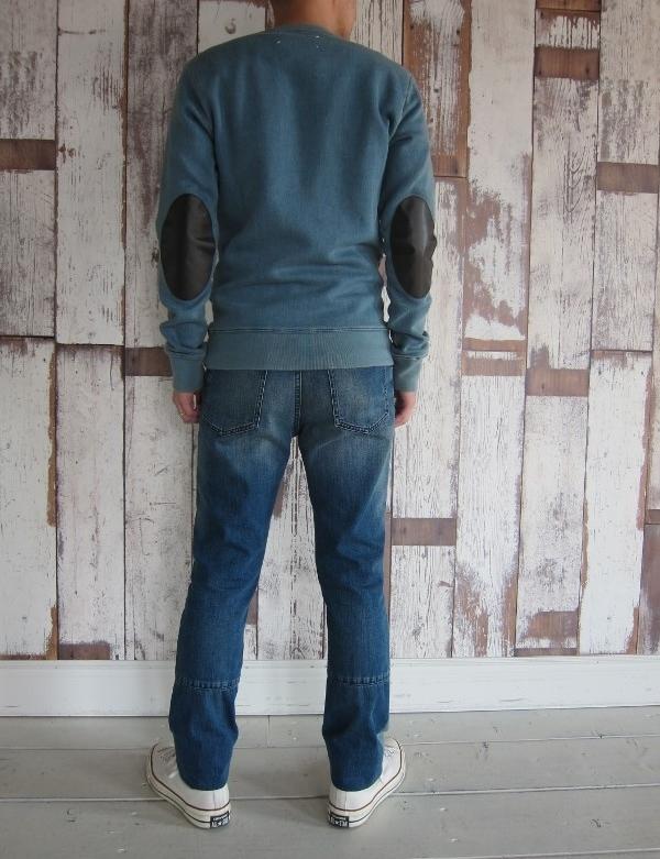 maison margiela メゾン マルジェラ Bleach dirty indigo sweat & vintage blue denim 2.jpg