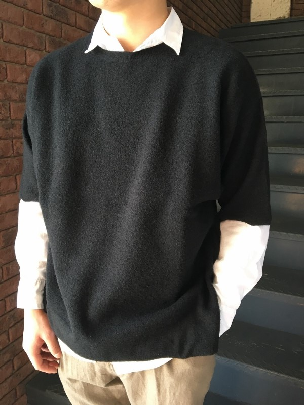 ONES STROKE ワンズストローク Double Face Reversible Oversized SS Sweater 1.jpg