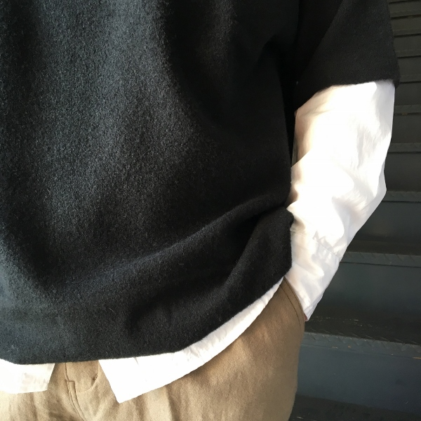 ONES STROKE ワンズストローク Double Face Reversible Oversized SS Sweater 3.jpg