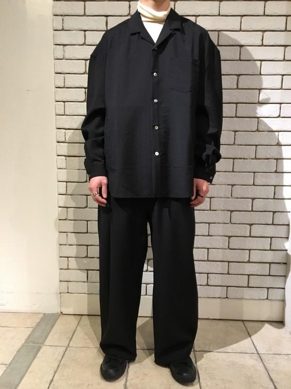 Name ネーム wool mohair oversized shirt & wool mohair tropical wide trousers.jpg