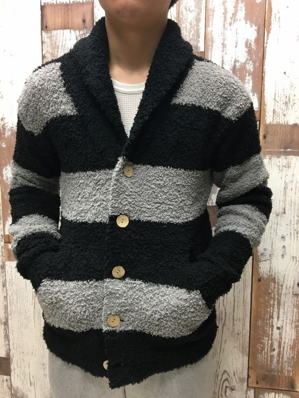 BAREFOOT DREAMS ベアフットドリームス Wide border Shawl Cardigan 3.jpg