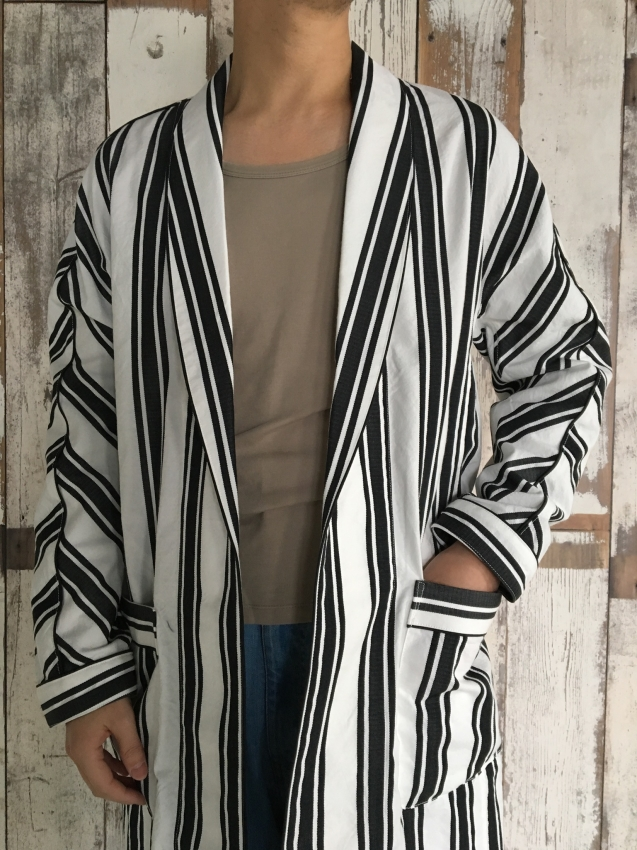 Name. ネーム STRIPED DOLMAN ROBE 2.jpg