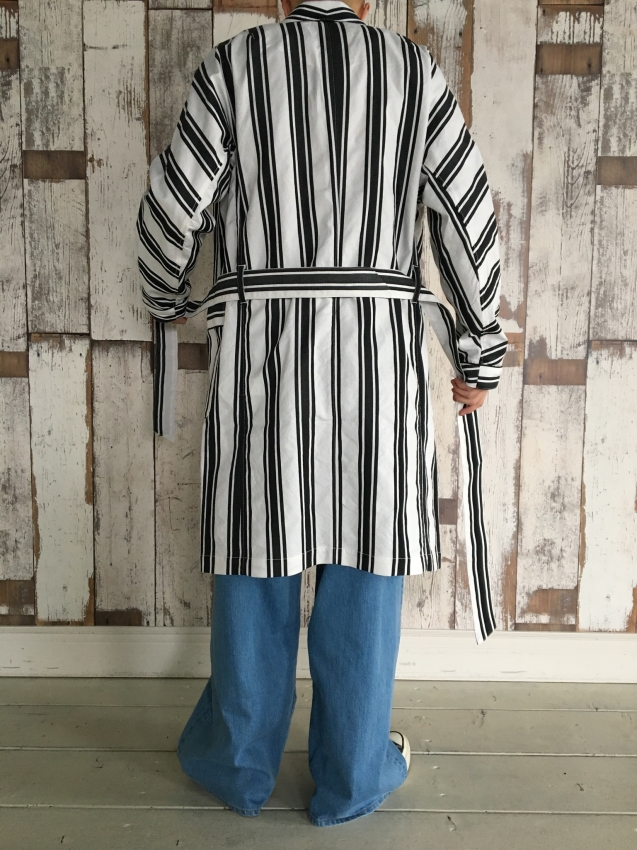 Name. ネーム STRIPED DOLMAN ROBE 7.jpg