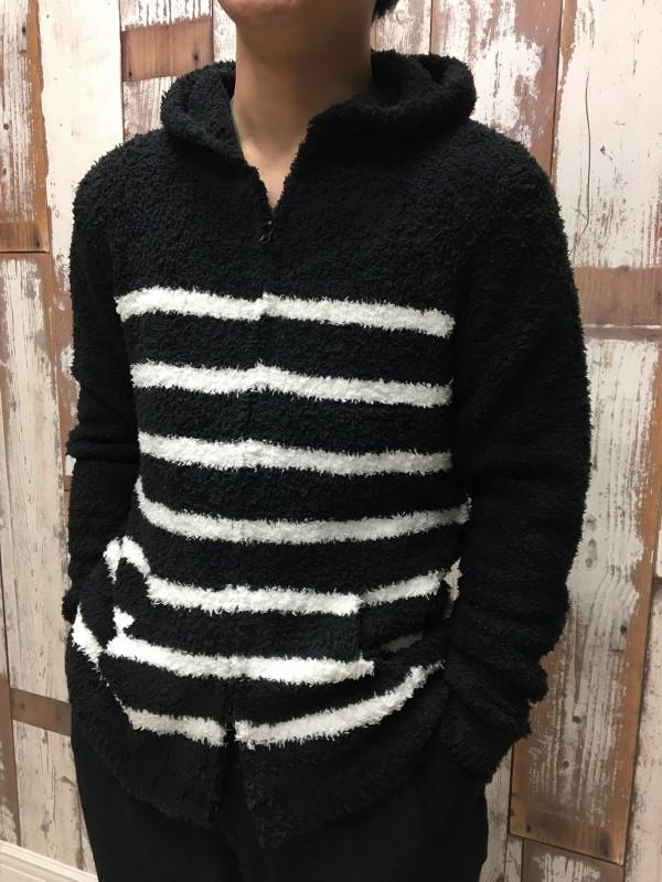 Barefoot Dreams ベアフットドリームス wide stripe hoodie 2.jpg
