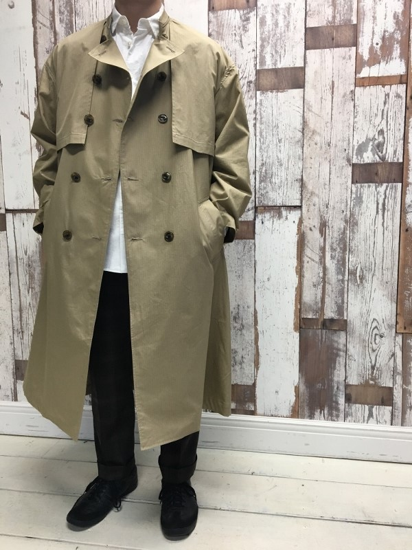 Name ネーム OVERSIZED FINX RIPSTOP TRENCH COAT 9.jpg