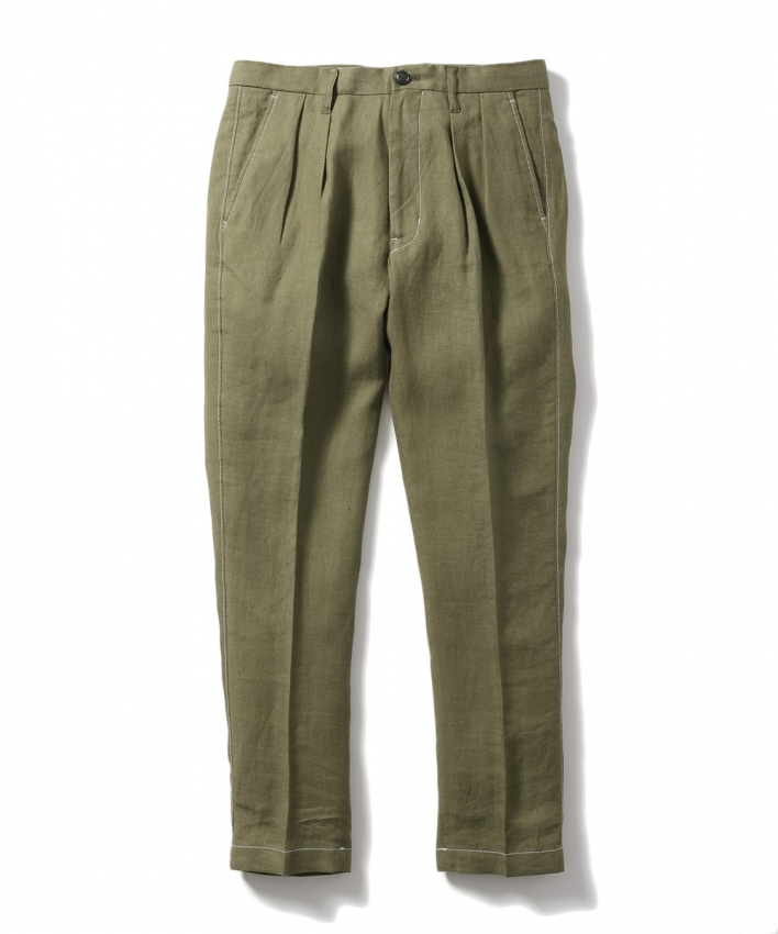 Name ネーム LINEN GABARDINE TAPERED TROUSERS 1.jpg