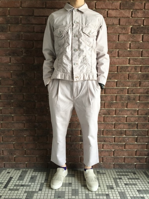 ONES STROKE ワンズストローク Oxford Chanbray G-Jack &  Oxford Chanbray Onetuck Pants.jpg