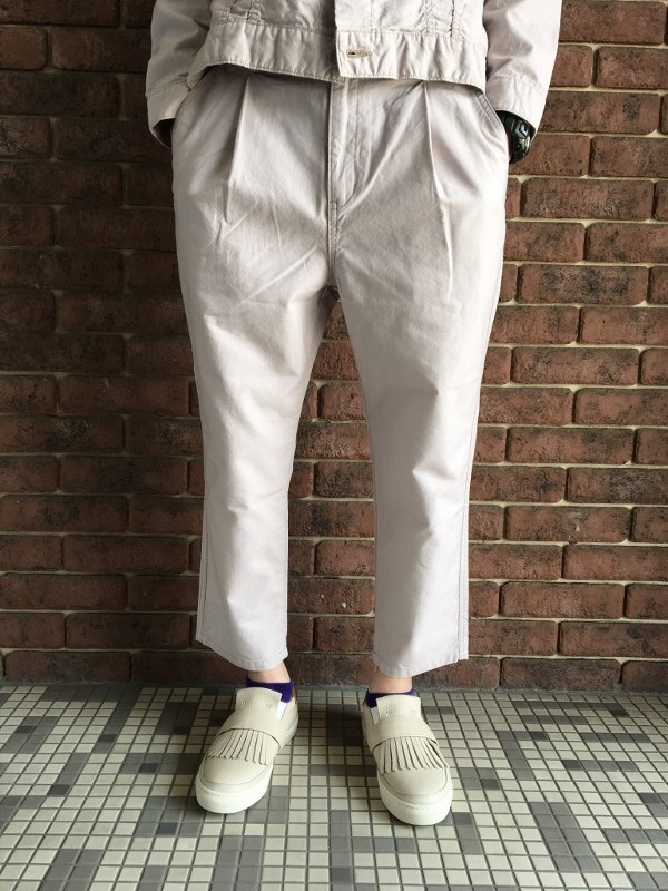 ONES STROKE ワンズストローク Oxford Chanbray Onetuck Pants 1.jpg
