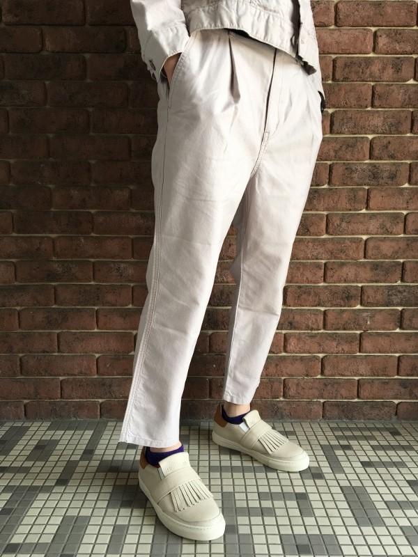 ONES STROKE ワンズストローク Oxford Chanbray Onetuck Pants 2.jpg