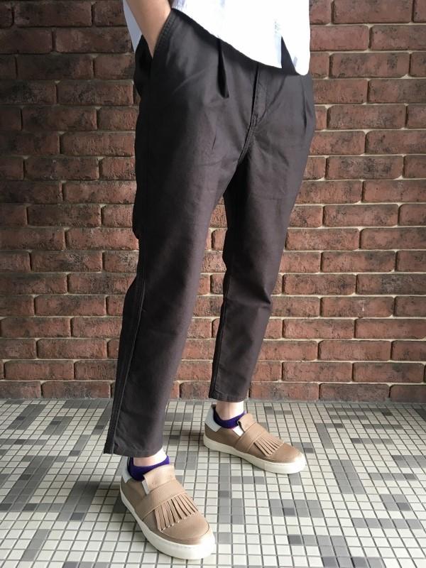 ONES STROKE ワンズストローク Oxford Chanbray Onetuck Pants 4.jpg