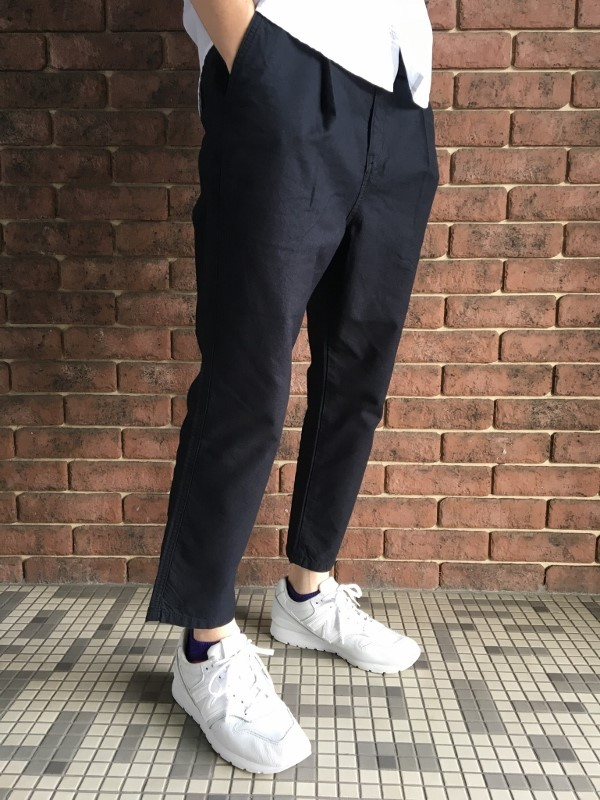 ONES STROKE ワンズストローク Oxford Chanbray Onetuck Pants 6.jpg