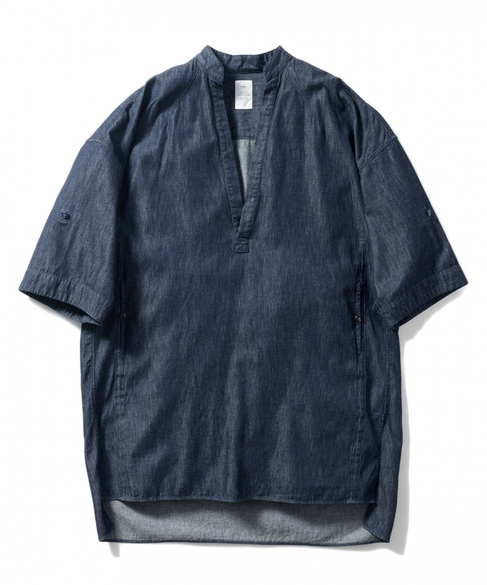 Name ネーム 6OZ DENIM TUNIC SHIRT ONE WASH 1.jpg