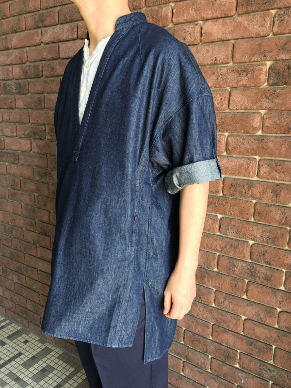 Name ネーム 6OZ DENIM TUNIC SHIRT ONE WASH 2.jpg