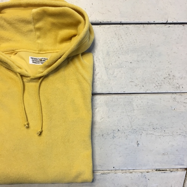 WACKO MARIA ワコマリア PILE PULLOVER HOODED SHIRT yellow 1.jpg