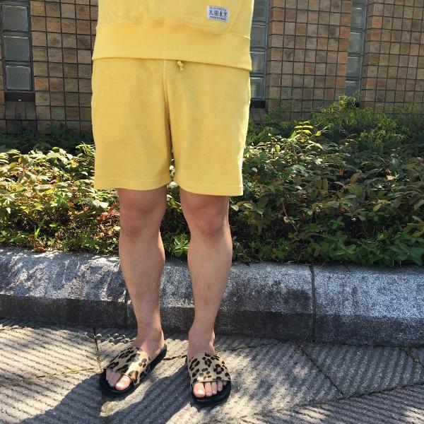 WACKO MARIA ワコマリア PILE SHORTS yellow 3.jpg