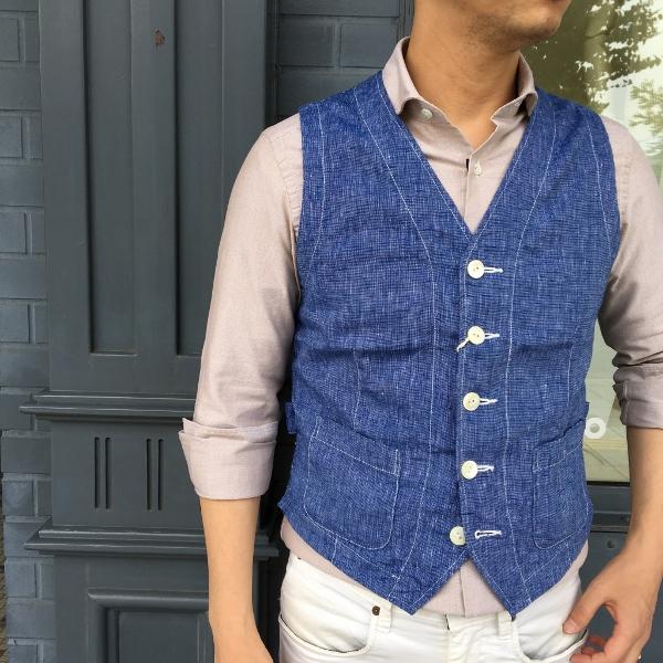 The Stylist Japan ザスタイリストジャパン Chambray Vest 2.jpg
