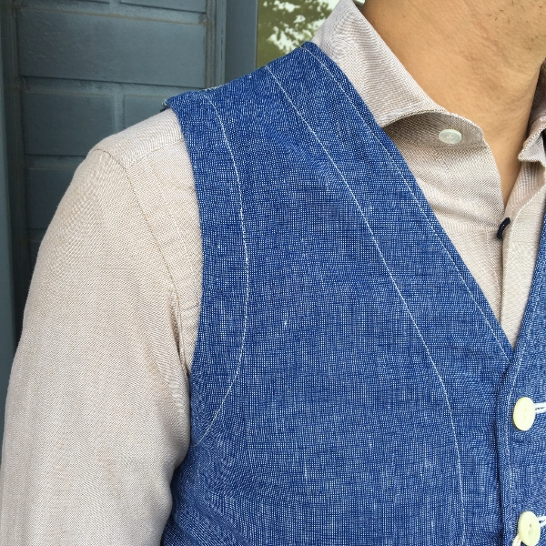 The Stylist Japan ザスタイリストジャパン Chambray Vest 3.jpg