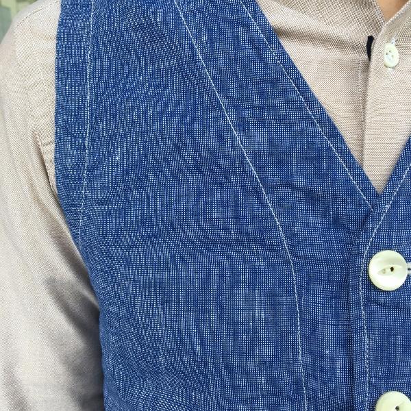 The Stylist Japan ザスタイリストジャパン Chambray Vest 4.jpg