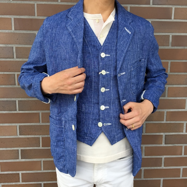 The Stylist Japan ザスタイリストジャパン Chambray Jacket & Vest 1.jpg