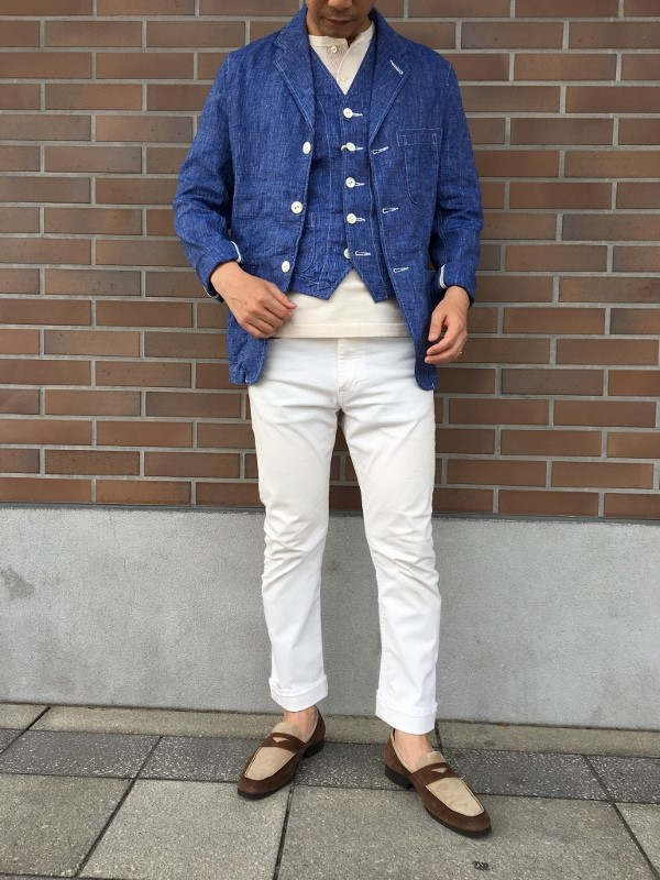 The Stylist Japan ザスタイリストジャパン Chambray Jacket & Vest 2.jpg