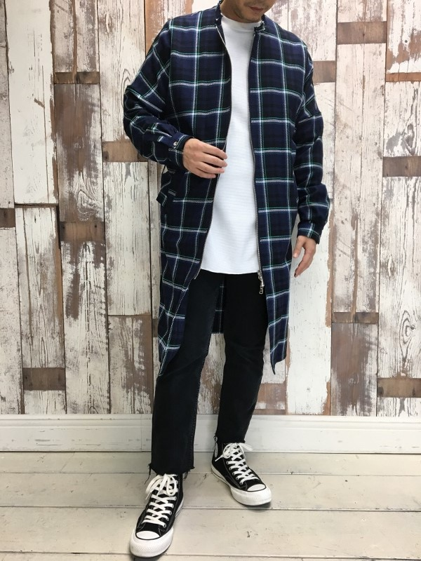 Name. ネーム PLAID COTTON ZIP UP COAT 2.jpg