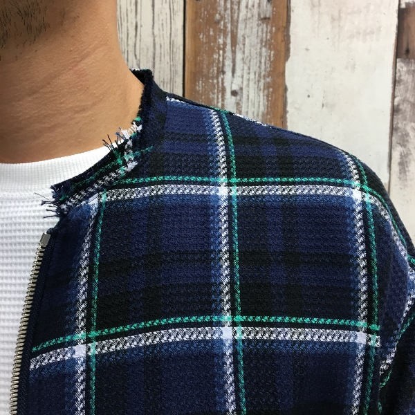 Name. ネーム PLAID COTTON ZIP UP COAT 4.jpg