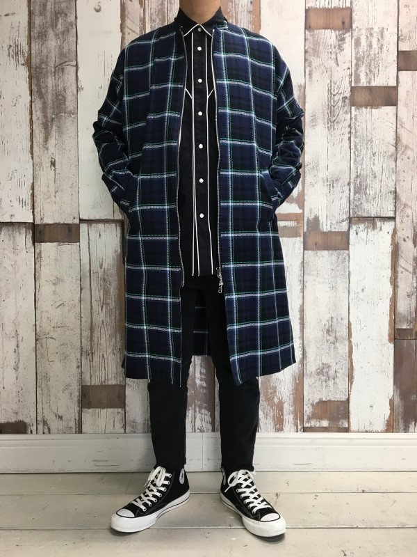 Name. ネーム PLAID COTTON ZIP UP COAT 7.jpg