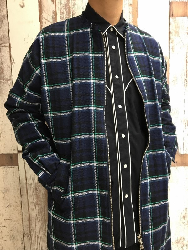 Name. ネーム PLAID COTTON ZIP UP COAT 8.jpg