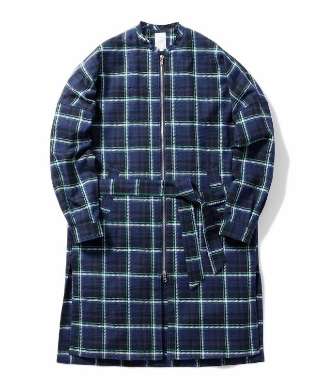 Name. ネーム PLAID COTTON ZIP UP COAT 1.jpg